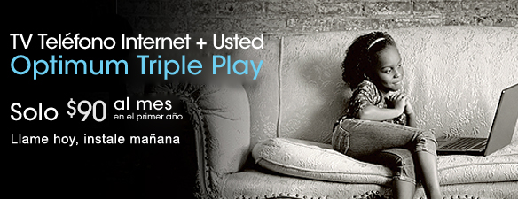Triple Play - Optimum TV + Optimum Online + Optimum Voice