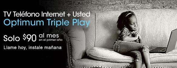 Triple Play - Optimum TV + Optimum Online + Optimum Voice